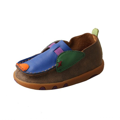 *INFANT SLIP DRIVING MOCCASINS - BOMBER/MULTI ICA0002