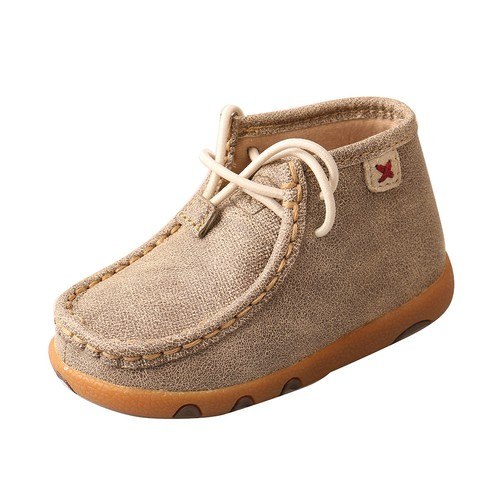 INFANT DRIVING MOCCASINS - DUSTY TAN/BOMBER ICA0005