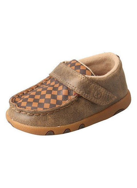 INFANT DRIVING MOCCASINS - BOMBER/TAN ICA0009
