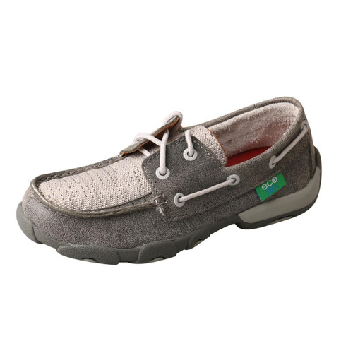 YOUTH DRIVING MOCCASINS - BOAT/GREY+LIGHT GREY YDM0044