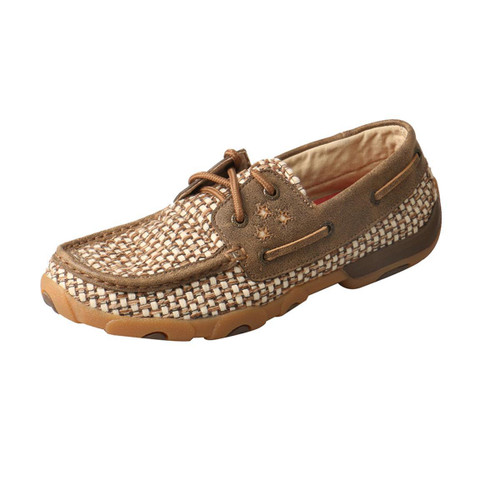 WOMENS BOAT DRIVING MOCCASINS - BOMBER/IVORY WDM0110
