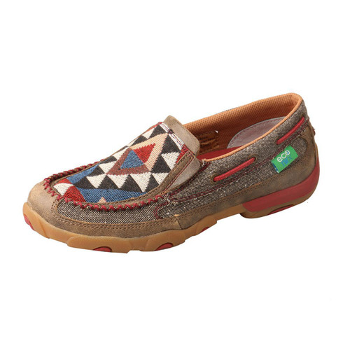 WOMENS SLIP ON DRIVING MOCCASINS - DUST/MULTI WDMS011