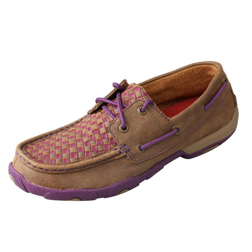 WOMENS BOAT SHOE - BOMBER/PURPLE WDM0025