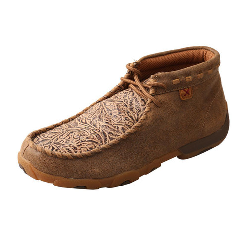 WOMENS DRIVING MOCCASINS - BOMBER/NUDE PRINT WDM0080