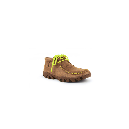 Ladies Rogue Mocha/Lime Green