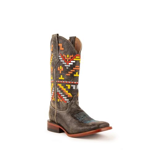 Ladies Aztec Cowgirl Teal S-Toe