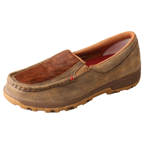 WOMENS SLIP ON DRIVING MOCCASINS - BOMBER/BRINDLE WXC0011