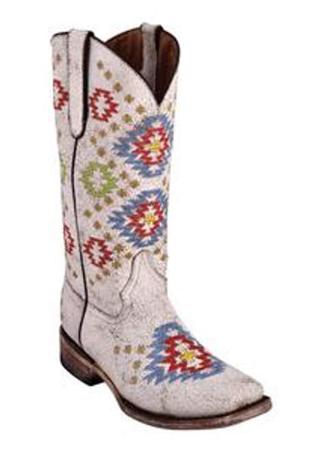 Ladies Aztec White S-Toe