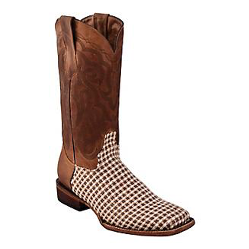 Men's Basket Weave Brown S-Toe