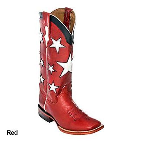Ladies Americana Red S-Toe
