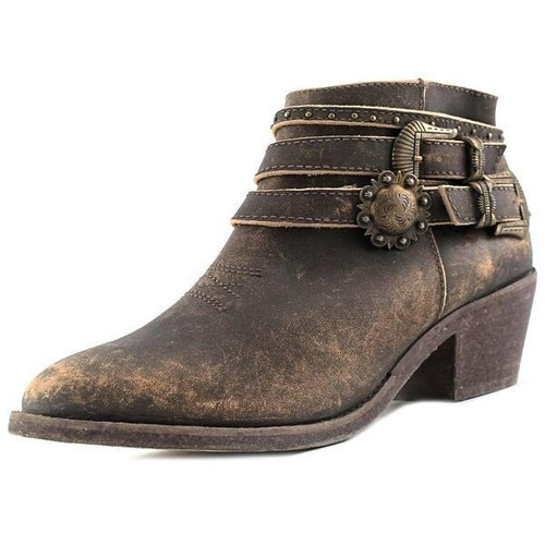 LD  DISTRESSED BROWN MULTI-STRAPS ANKLE BOOT P5107