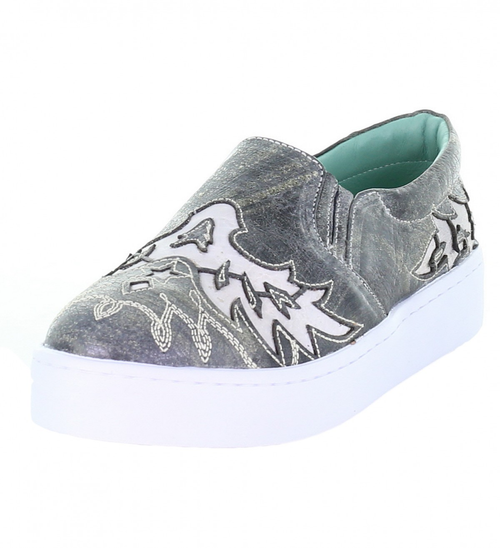 LD BLACK INLAY & EMBROIDERY SNEAKER E1567