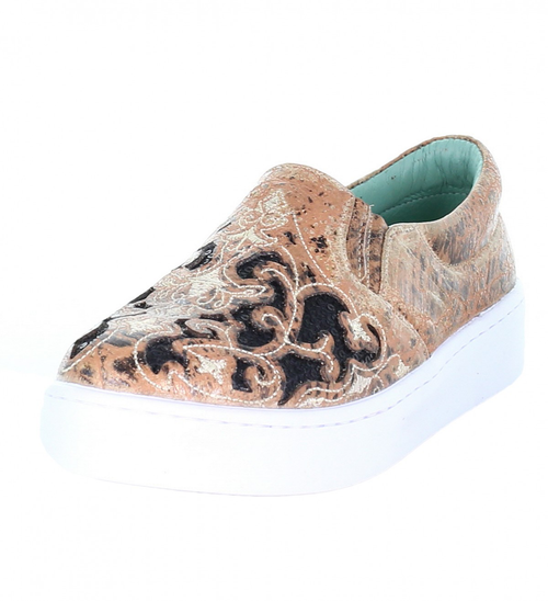 LD BRONZE/BLACK INLAY & EMBROIDERY SNEAKER E1563