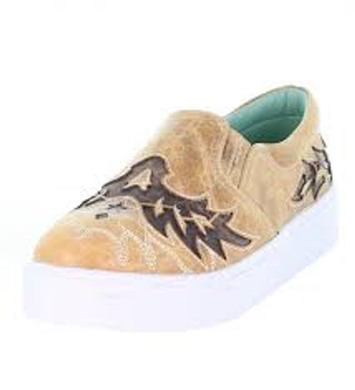 LD STRAW INLAY & EMBROIDERY SNEAKER E1568