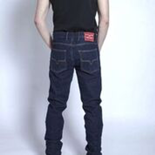 Wayne-Mens Jeans-Blue
