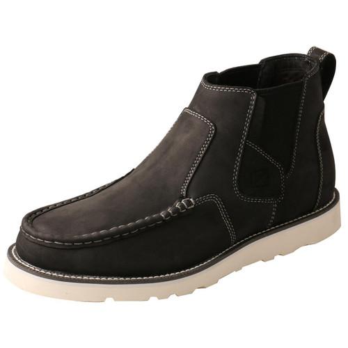 "MENS 4"" CHELSEA WEDGE SOLE BOOT - BLACK MCA0040"