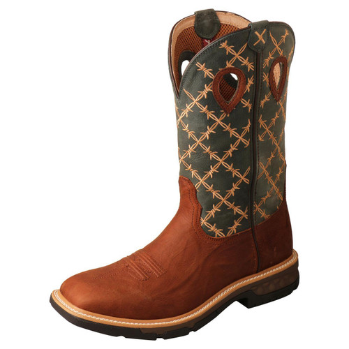 "12"" Western Work Boot - Mocha & Slate MXB0005"