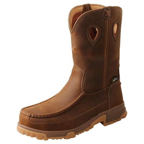 "11"" Pull On Work Boot - Distressed Saddle MXCNM01"