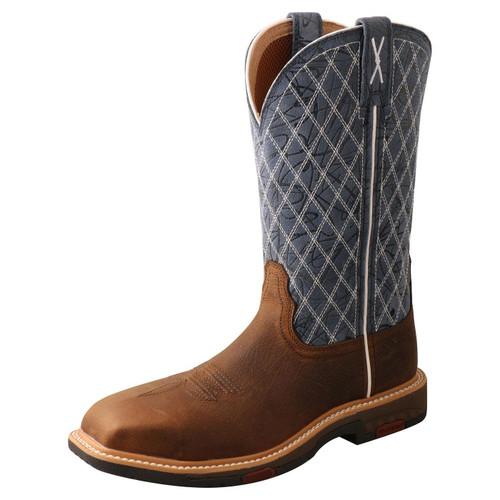 "11"" Western Work Boot - Brown & Blue WXBN001"