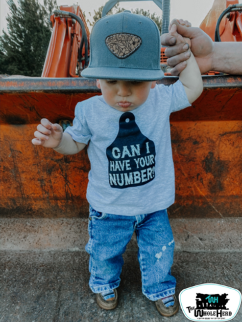 CAN I HAVE YOUR NUMBER? KIDS WESTERN TEE