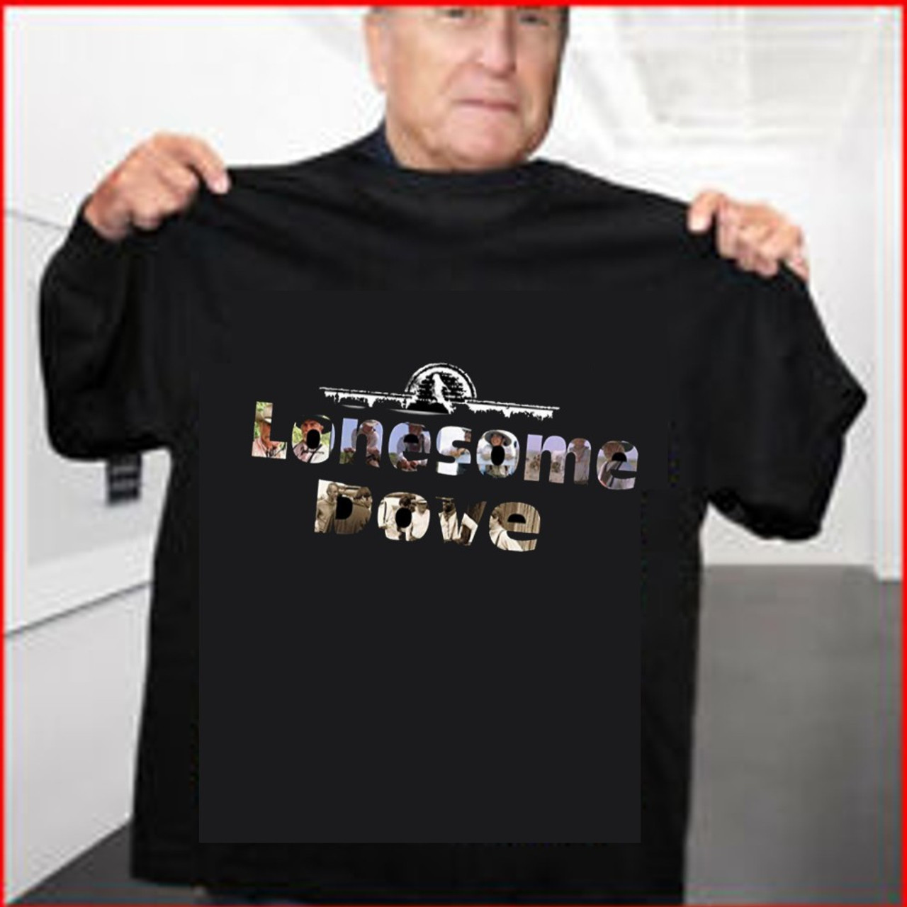 Lonesome Dove T shirt Letter Collage