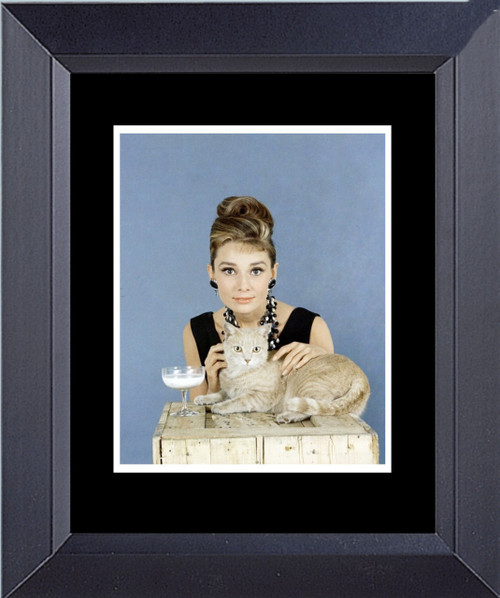 Audrey Hepburn Breakfast At Tiffany's With The Cat