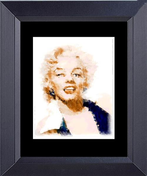 Marilyn Monroe Watercolor Painting Framed Art Photograph Print