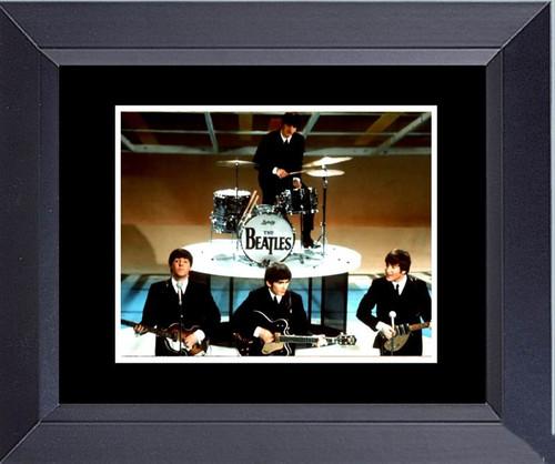 The Beatles Ed Sullivan Show Feb. 1964 Framed Art Photograph Print