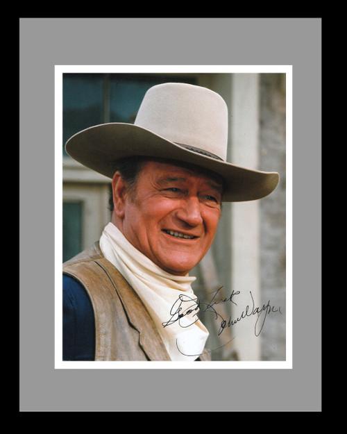 John Wayne Headshot  With Signature