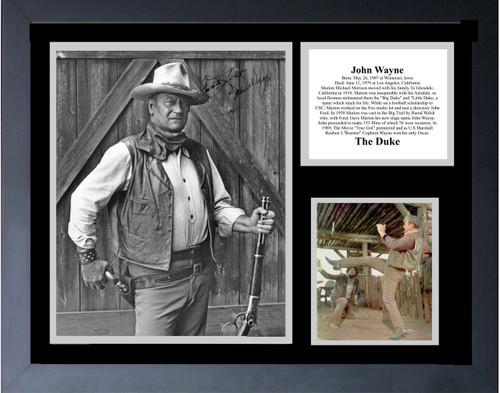 John Wayne In The Cowboys  With Signature