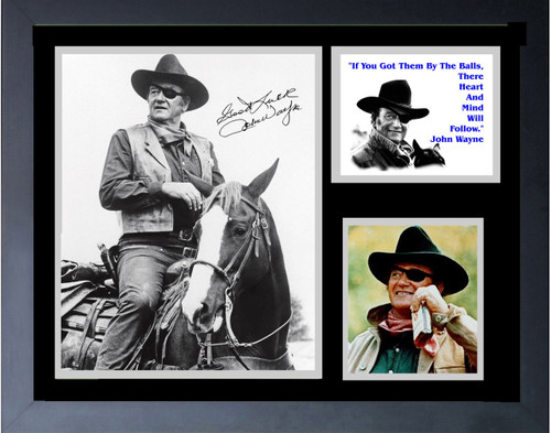 John Wayne Rooster Cogburn Famous Quote If You Have Them By Them  With Signature