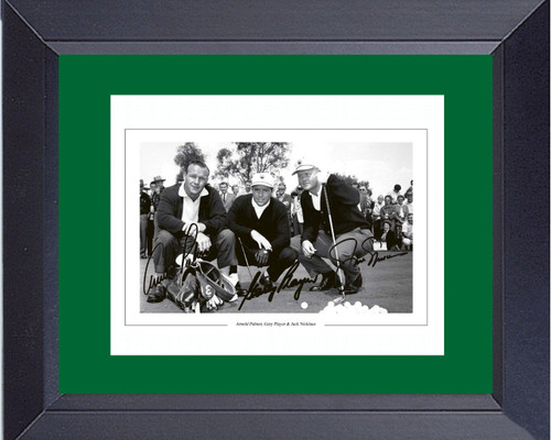 Masters Augusta Winners Arnold Palmer Jack Nicklaus Gary Player Framed Print