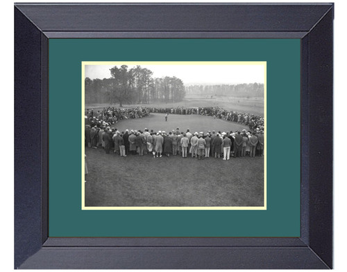 Bobby Jones at the Masters 1934 Putting 18th Green Framed Print