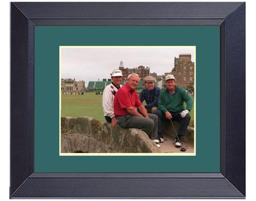 Legends Of Golf At. St. Andrews Jack Nicklaus Arnold Plamer Tom Watson Raymond Floyd Framed Golf Wall Décor Art 14 x 17