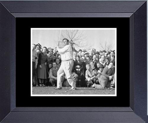 Golf Babe Ruth World Famous Golfer Rare Find Framed Art Photograph Print