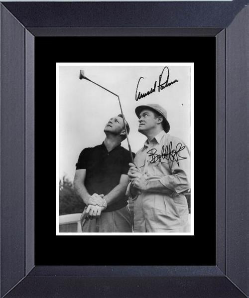 Golf Bob Hope Arnold Palmer Golf Penned By Both Men. Framed Art Photograph Print
