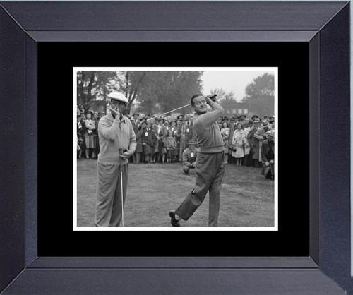 Golf Bob Hope Bing Crosby Playing Stinking Golf Framed Art Photograph Print