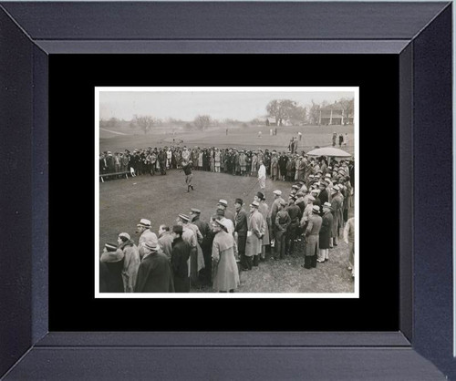 Golf Bobby Jones Tees  Off First Masters March 25, 1934 With Walter Hagen At His Side Framed Art Photograph Print