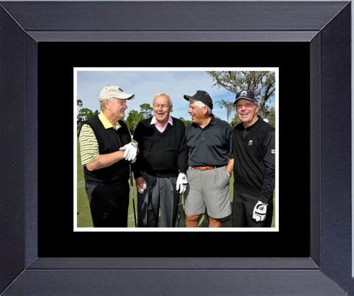 Golf Legends Of Golf Jack Nicklaus Gary Player Arnold Palmer Lee Trevino Framed Art Photograph Print