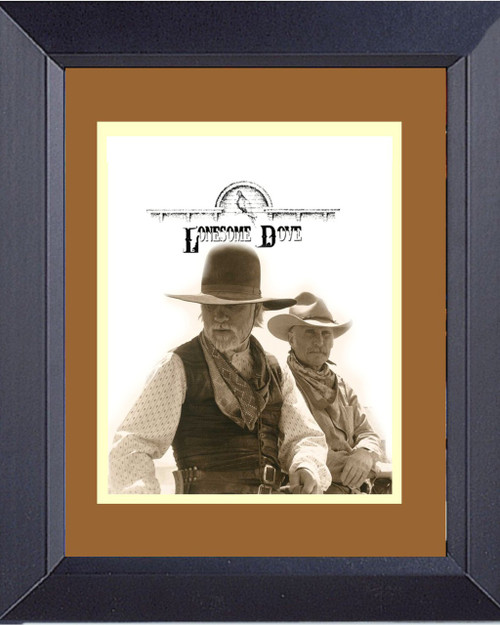 Lonesome Dove Logo With Gus And Call Framed Print
