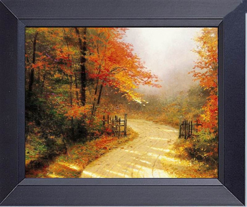 Fall Foliage Tree Color Painting Framed Art Photograph Print