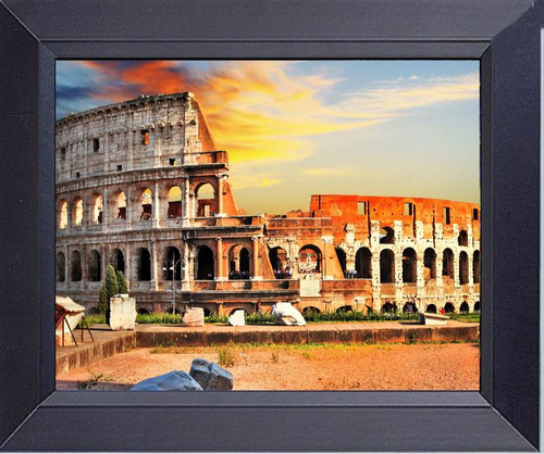 Great Roman Coliseum On Sunset Framed Art Photograph Print