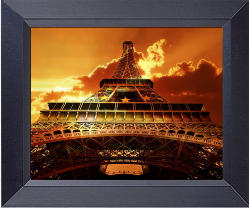 Eiffel Tower On Sunset  Paris France