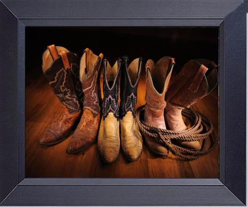 Cowboy Boots Old West Framed Art Photograph Print