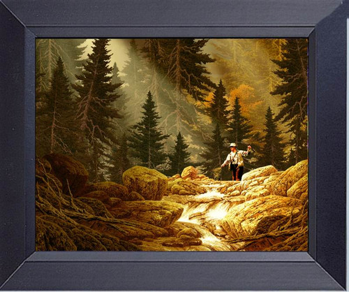 Fly Fishing For Trout In The Rockies Framed Art Photograph Print