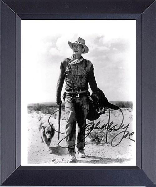 John Wayne And The Dog In Hondo Framed Art Photograph Print