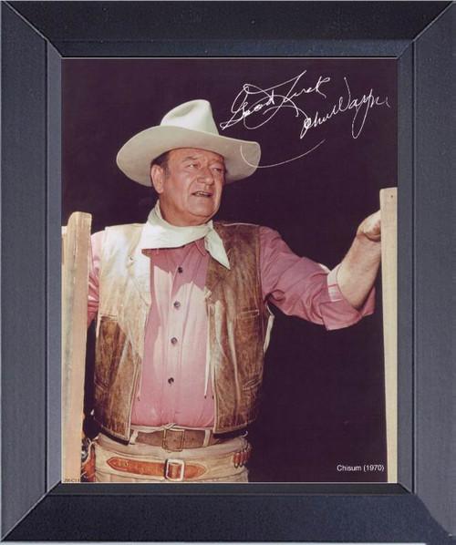 John Wayne In Chisum Framed Art Photograph Print