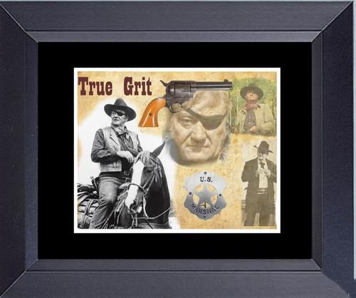 John Wayne Photo Collage True Grit Rooster Cogburn Framed Art Photograph Print