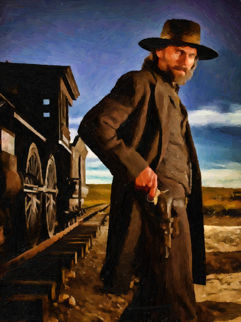 Hell On Wheels Cullen Oil Painting Staring