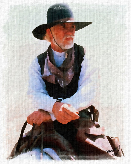 Captain Call Lonesome Dove Oil Painting Staring